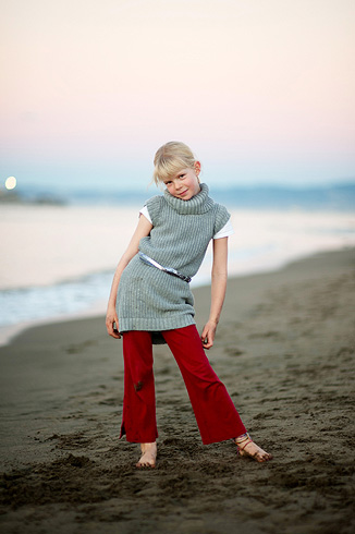 Kid Portrait, Crissy Field Beach, San Francisco by Debra A. Zeller Photography