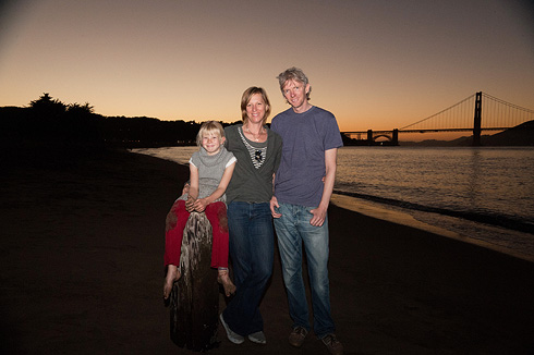 Family Portrait, Crissy Field Beach, San Francisco by Debra A. Zeller Photography