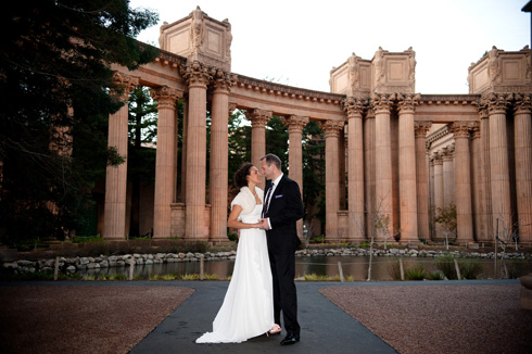 Palace of Fine Arts Wedding Portrait
